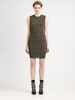 Alexander McQueen - Metallic Sheath Dress