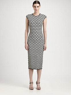 Alexander McQueen - Honeycomb Jacquard Pencil Dress
