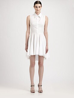 Alexander McQueen - Poplin Peplum Blouse Dress