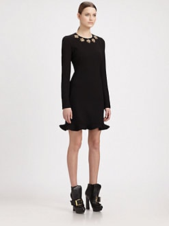 Alexander McQueen - Glory Embroidery Silk Dress
