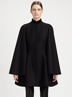 Alexander McQueen - Velvet Collar Cape Jacket