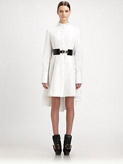 Alexander McQueen - Stud Collar Piqu&eacute; Shirtdress