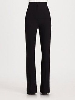 Alexander McQueen - High-Waist Leaf Crepe Pants