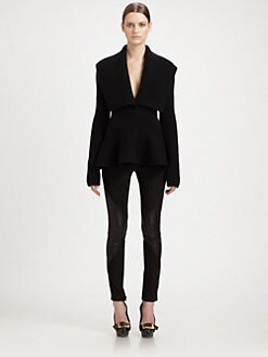Alexander McQueen - Ribbed Peplum Cardigan