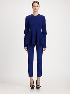 Alexander McQueen - Ribbed Peplum Sweater