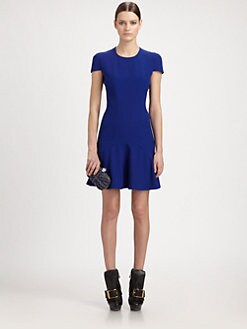 Alexander McQueen - Leaf Crepe Flouce Dress