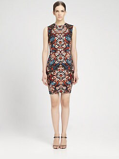 Alexander McQueen - Stained Glass Print Sleeveless Dress