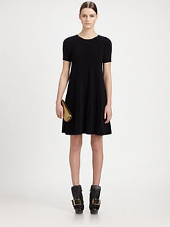 Alexander McQueen - Pleated Knit Dress