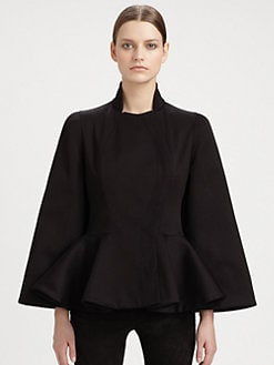 Alexander McQueen - Peplum Capelet Jacket
