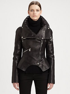 Alexander McQueen - Leather Motorcycle Jacket