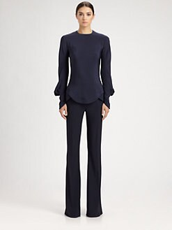 Alexander McQueen - Silk Cady Blouse