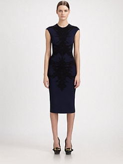 Alexander McQueen - Spine Lace Knit Dress