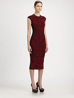 Alexander McQueen - Lace Jacquard Knit Dress