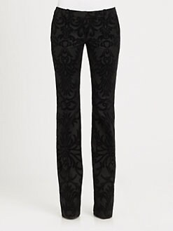 Alexander McQueen - Velvet Flock Flannel Pants