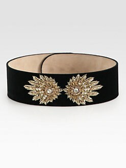 Alexander McQueen - Embroidered Suede Belt