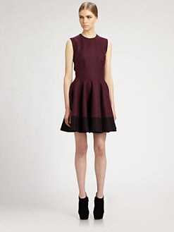 Alexander McQueen - Colorblock Mini Dress