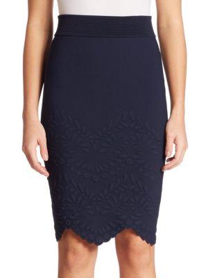 Embossed Knit Skirt plus size,  plus size fashion plus size appare