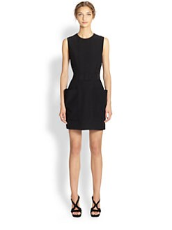 Alexander McQueen - Belted Patch Pocket Dress