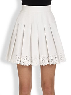 Alexander McQueen - Pleated Eyelet Mini Skirt