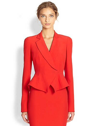 Sale alerts for Alexander McQueen One-Button Peplum Jacket - Covvet