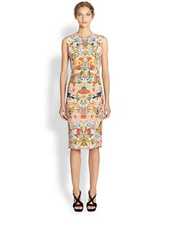 Alexander McQueen - Belted Floral Print Dress