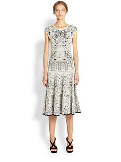 Alexander McQueen - Knit Lace Jaquard Dress