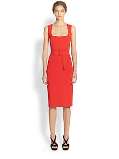 Alexander McQueen - Belted Pencil Dress