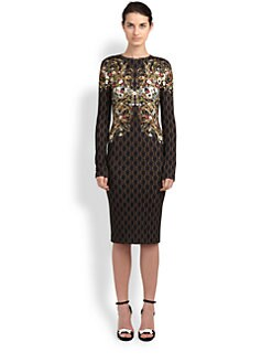 Alexander McQueen - Printed Stretch Jersey Dress