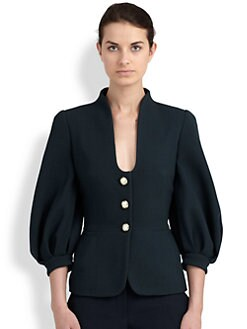 Alexander McQueen - Wool Blouson-Sleeved Jacket