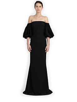 Alexander McQueen - Off-The-Shoulder Velvet Gown
