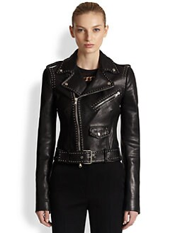 Alexander McQueen - Studded Leather Moto Jacket