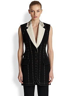 Alexander McQueen - Sleeveless Wool Jacket