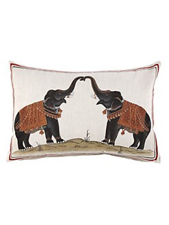 John Robshaw - Two Elephants Pillow