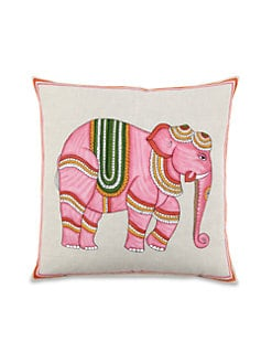 John Robshaw - Pink Elephant Decorative Pillow