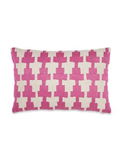 John Robshaw - Kandi Embroidered Linen Pillow