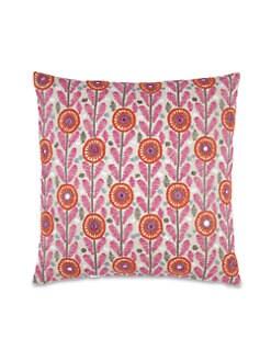 John Robshaw - Ribana Mirror Embroidered Linen Pillow