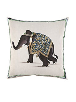 John Robshaw - Indian Elephant Pillow
