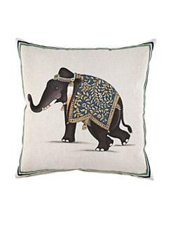 John Robshaw - Indian Elephant Pillow