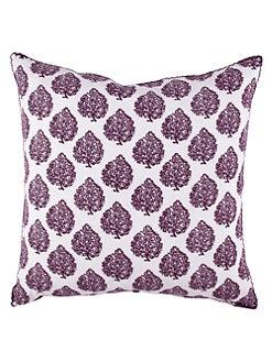 John Robshaw - Leaf-Print Decorative Pillow