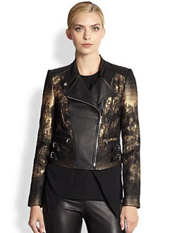Yigal Azrouel - Marbled Motorcycle Jacket