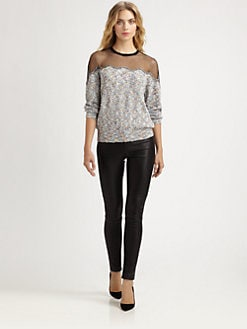 Yigal Azrouel - Knit Boucl&eacute; Top