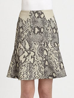 Yigal Azrouel - Reptile Stretch Jacquard Skirt