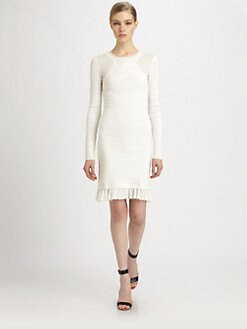 Yigal Azrouel - Ruffle Flounce Knit Dress