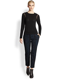 Yigal Azrouel - Stretch Techno/Mesh Top
