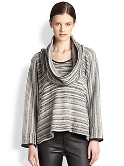 Yigal Azrouel - Bouclé Cowl Neck Sweater