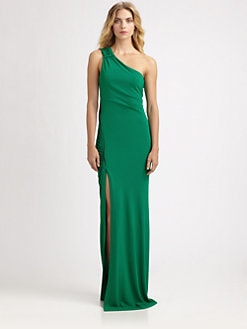 Yigal Azrouel - Asymmetrical Crepe Jersey Gown