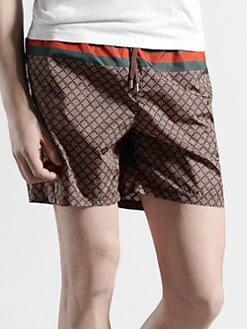 Gucci - Web Detail Diamante Swim Shorts