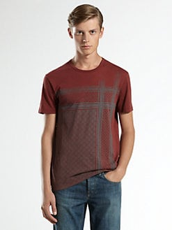 Gucci - Light Cotton Jersey T-Shirt with Kefia Print