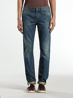 Gucci - Skinny Stone-Washed Blue Denim