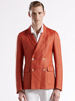 Gucci - Raffia Double-Breasted Cardigan Jacket